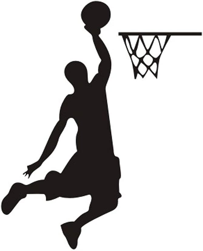DNVEN 4 inches x 5 inches Dunk Basketball Player Removable Light Switch Decals Wall Decals Stickers