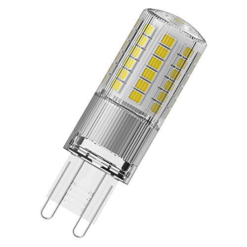 OSRAM LED Star PIN, Sockel: G9, Nicht Dimmbar, Warmweiß, Ersetzt eine herkömmliche 50 Watt Lampe, Klar, 9er-Pack