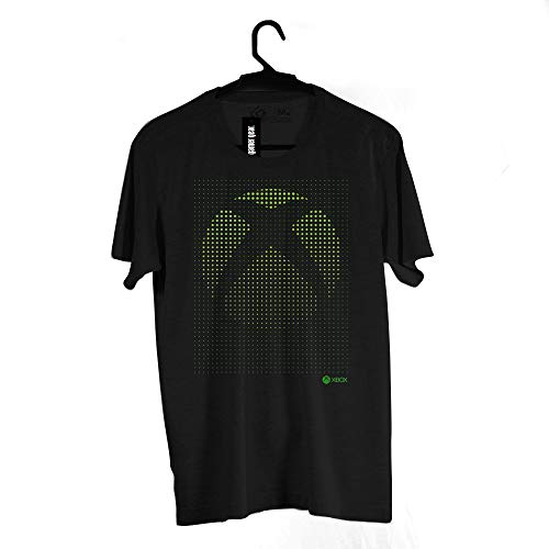 Camiseta Logo, Xbox, Adulto Unissex, Preto, 2G