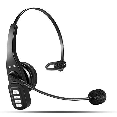 Bluetooth-Headset, Headset mit geräuschunterdrückendem Mikrofon, Freisprech-drahtlose Kopfhörer für LKW-Fahrer, Skype, Haus Büro, Business-Callcenter, Bluetooth-Kopfhörer, Leichtgewicht und Passform…
