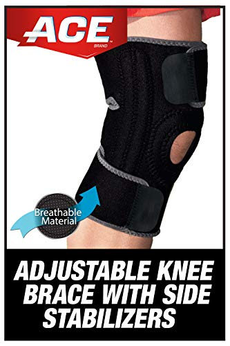 ACE Adjustable Knee Brace with Dual Side Stabilizers, Helps support weak, injured, arthritic or sore knee, Satisfaction Guarantee, One Size Fits Most (200290)