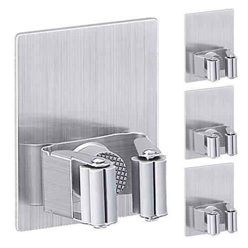 Pulluo 4Pcs Besenhalter Selbstklebend Wand Besenhalterung Ohne Bohren Gerätehalter Wandhalter für Besen Badezimmer Garten Garage Küche