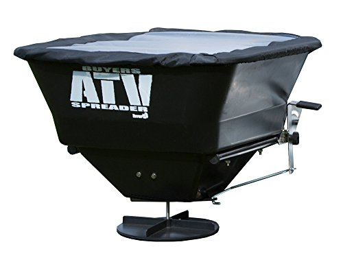 Buyers Products ATVS100 ATV All-Purpose Broadcast Spreader 100 lbs. Capacity with Rain Cover , Green