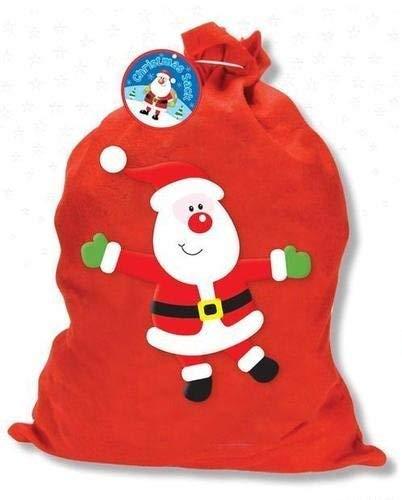 Feutre Rouge de Noël Père Noël-50cm x 57cm