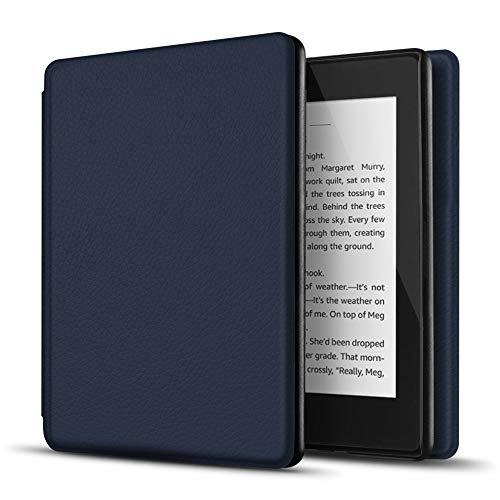 TNP Funda Protectora para Amazon Kindle Paperwhite 10a Generación 2018/2019/2020, Carcasa Inteligente Delgada y Ligera de Cuero con Función de Auto-Sueño para E-Reader (Azul Oscuro)
