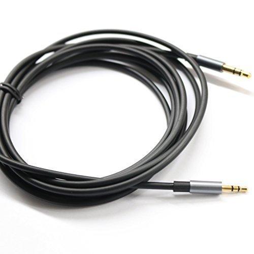 KetDirect Schwarz 9ft Gold überzogener Entwurf 3,5 mm Stecker auf 2,5 mm Stecker Auto-Zusatzaudiokabel Cord Kopfhörer-Anschlusskabel für Apple, Android Smartphone, Tablet und MP3-Player …
