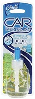Glade Auto Scented Oil Automotive Car Vent Air Freshener Refill, Outdoor Fresh Scent (Pack of 2)