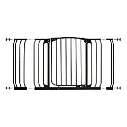 MEASURE YOUR OPENING BEFORE PURCHASING - This gate kit with extensions fits openings 97 up to 133 cm using the two included 9 cm and 18 cm extensions. It will not fit any opening smaller than 97 cm. If your opening is larger than 133 cm you will requ...
