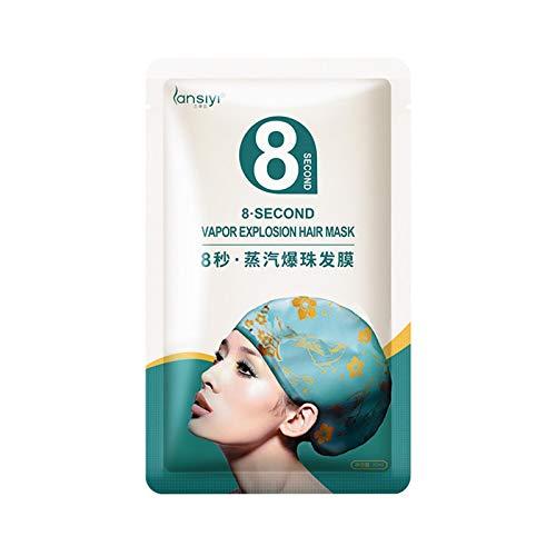 Masque capillaire à vapeur 1 pièces, paquet de vapeur de mouton de chauffage automatique, revitalisant pour cheveux secs et abîmés, salon de coiffure bricolage pour cheveux dameged