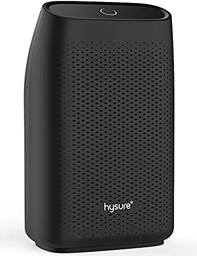 Hysure Dehumidifier,700ml Compact Deshumidificador 1200 Cubic Feet(215 sq ft) Quiet Room Dehumidifier, Portable Dehumidifier Bathroom Dehumidifier for Dorm Room, Baby Room, Home (Black001)
