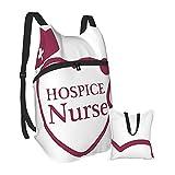 Yuanmeiju Enfermera Estetoscopio Mochila de senderismo Hombres y mujeres Mochila plegable portátil impermeable Viajes Deportes Compras Ultra