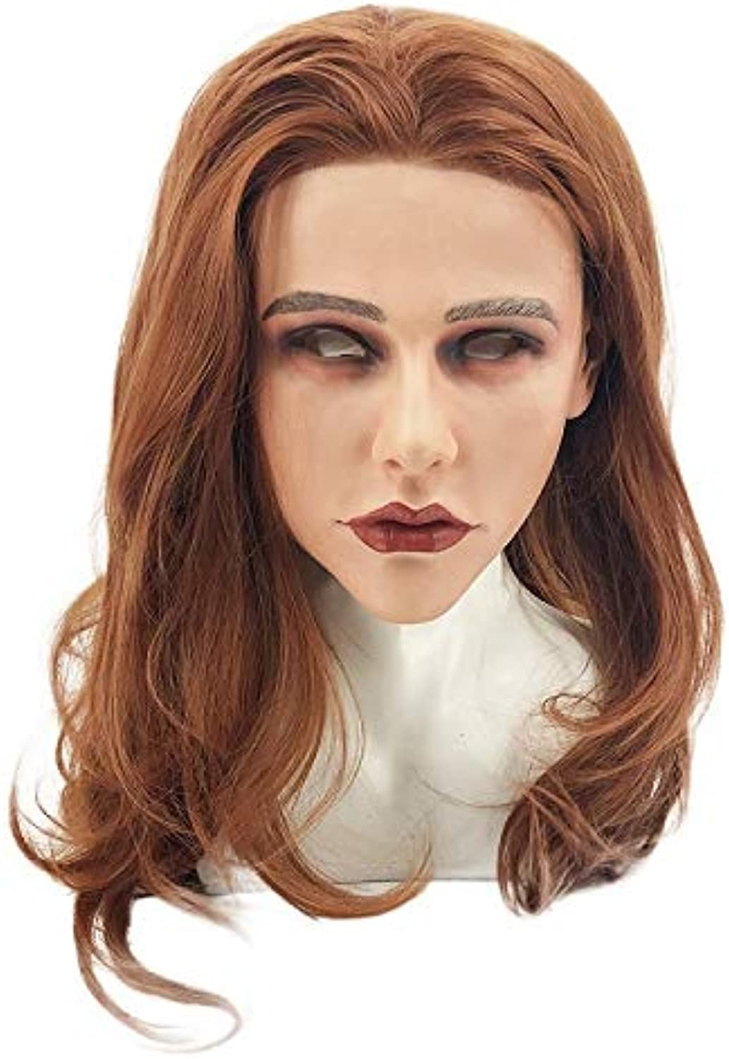 Female Skin Mask Halloween Cosplay Crossdress Silicone Mask for Male