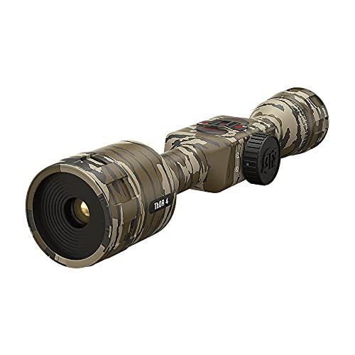 ATN MossyOak Thor 4 Smart HD Thermal Hunting Camouflage Scope w/ New gen Sensor, Built-in Ballistics Calc, Video Record, Wi-Fi, 18hrs+ Battery (384x288, 1.25-5x Bottomland)