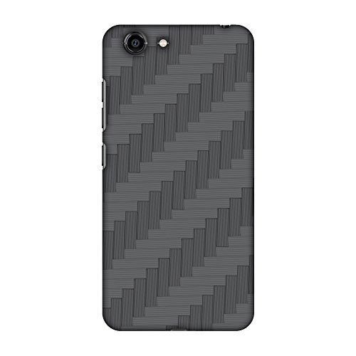 AMZER Slim Designer Snap On Hard Shell Case Back Cover with Screen Care Kit for Gionee S10C - Carbon Fiber Redux 8