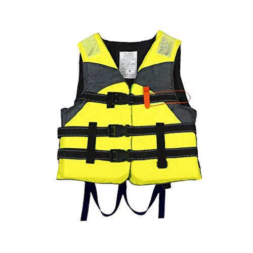 Chaleco Salvavidas Profesional Niños Adultos Chaleco Salvavidas Ajustable Reflectante con cinturón de Silbato para natación, Kayak, Snorkel, Paddle Surf-Unisex