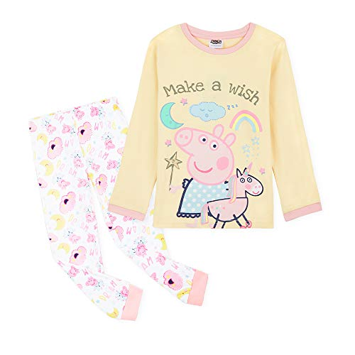 Peppa Pig Schlafanzug Mädchen, Süße Pyjama Set 18 Monate - 6 Jahren, Baumwolle Winter Mädchen Nachtwäsche, Peppa Wutz Geschenke für Kinder (4-5 Jahre)