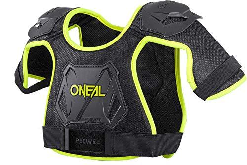 O\'NEAL Peewee Chest Guard Kinder Brust/Schulterprotektor schwarz/gelb Oneal: Größe: M/L