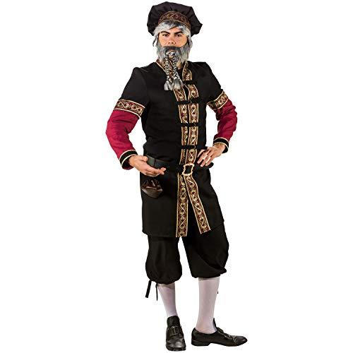 Orlob Fasching Kostüm Edelmann Mittelalter Herr - Gewand und Barett (50/52)