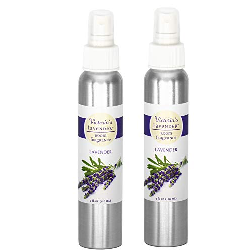 Victoria's Lavender Room Spray All-Natural Home Fragrance 100% Pure Essential Oil Air Freshener Odor Eliminator (2 Pk Lavender) | MADE IN USA