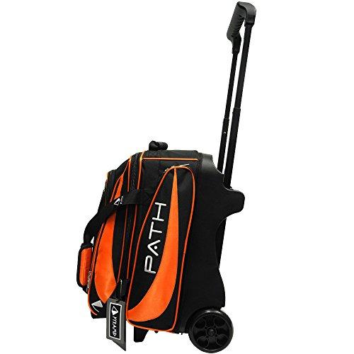 Pyramid Path Premium Deluxe Bowlingtasche mit 2 Rollen, Path Premium Deluxe Double Roller, Orange