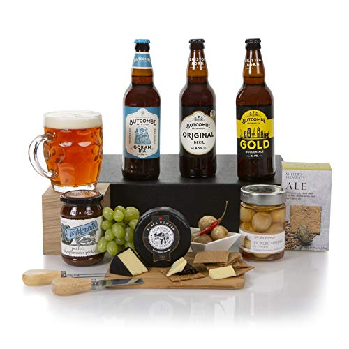 Plougmans Beer and Cheese Hamper - Beer Hampers - Real Ale and Cheese Gift Basket & Hampers - Beer and Cheese Hamper