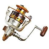 HXF- Spinning Pesca Carrete 12 + 1 rodamientos Izquierda Derecha intercambiables Mango for pesca de...