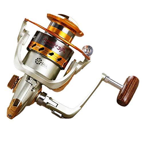 HXF- Spinning Pesca Carrete 12 + 1 rodamientos Izquierda Derecha intercambiables Mango for pesca de agua salada de agua dulce con doble Arrastre Sistema de frenos de fibra de carbono de la fricción po