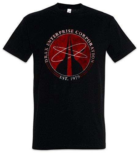 Urban Backwoods Drax Enterprise Corporation I Herren T-Shirt Schwarz Größe XL