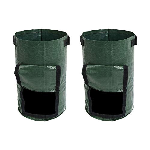 Amazing Deal AloPW Yard Waste Bags 2 Pcs Vegetable Plant Grow Bag Organic Waste Kitchen Garden Pots ...