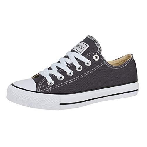 Elara Zapatos de Deporte Unisex Low Top Textil Chunkyrayan Gris Oscuro 01-A-36-DkGrey
