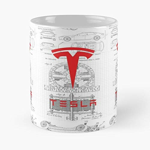5TheWay Radiant Logo Art Car Tesla Energy Coil Nikola Steampunk Best 11 oz Kaffeebecher - Nespresso Tassen Kaffee Motive