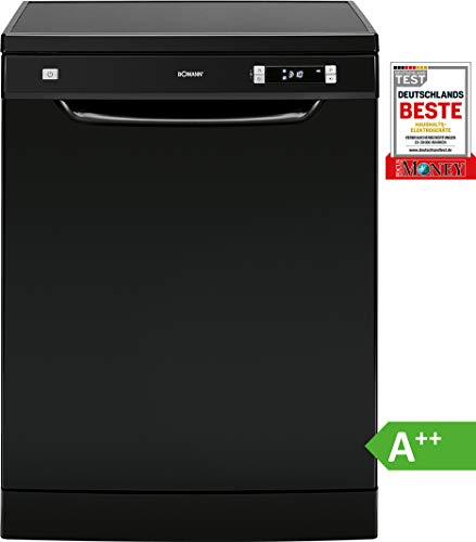 Bomann GSP 864 Geschirrspüler / EEK A++ / Stand/Unterbau / 60 cm / 262 kWh / 13 MGD / 6 Programme / schwarz