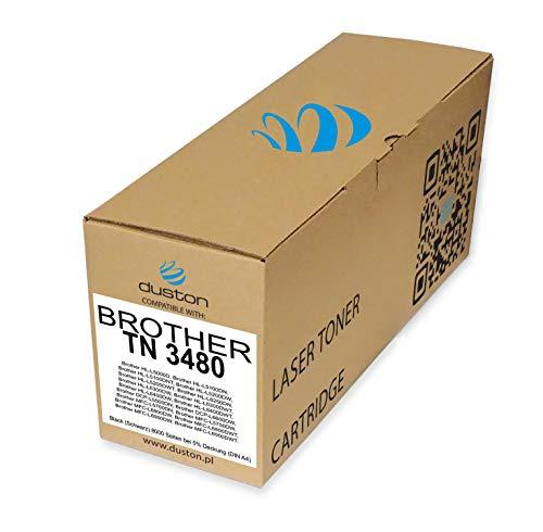 TN3480, TN-3480 Toner nero rigenerato Duston compatibile con Brother DCP-L5500 L6600 HL-L5000 L5100 L5200 L6250 L6300 L6400 MFC-L5700 L5750 L6800 L6900