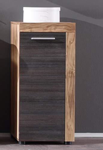 Newfurn Sideboard Kommode Natur Anrichte Highboard Mehrzweckschrank II 36x81x 31 cm (BxHxT) II [Jacek.one] in Nussbaum/Nussbaum Wohnzimmer Schlafzimmer Esszimmer