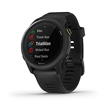 Garmin Forerunner 745 GPS Running Watch Detailed Training Stats and On-Device Workouts Essential Smartwatch Functions Black