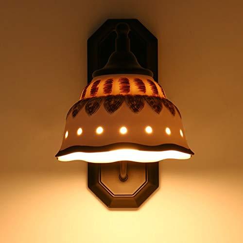 DKee Luces de Pared Arte Creativo De Cerámica De Metal Lámpara De Pared Accesorio De Iluminación Base Ancho 11 Cm De Alto 30 Cm 6-10 Plaza Dormitorio Sala De Estar Estudio