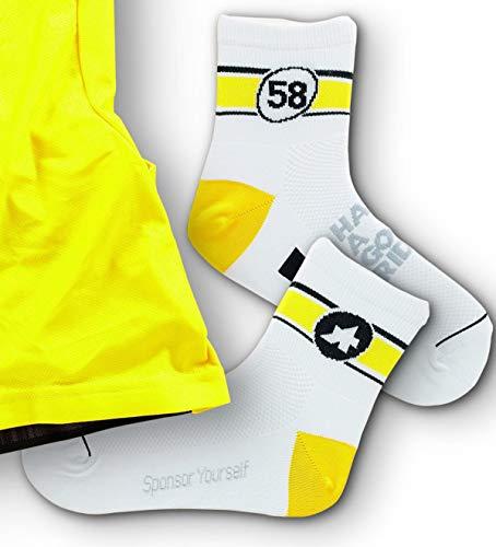 assos 6-Tages-Socken, Gelb - 1 - (EU 39-42)