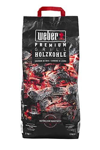 Weber Premium Holzkohle carbonella di Alta qualità, Nero