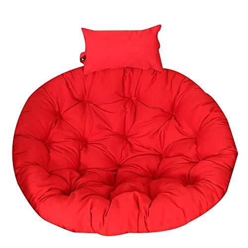 DJ stoelkussen, hangmat, verdikt, afneembaar, wasbaar, hangstoel terug met kussen, rond tapijt, kinderkamer-F 105 x 105 cm (41 x 41 inch)