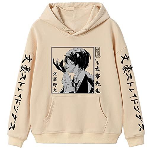 JFLY Japanischer Anime Bungou Stray Dogs Print Hoodies Sweatshirt Dazai Osamu Hoodie Männlich Modische Lose Hoody Sweatshirts