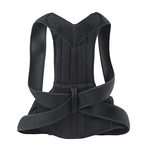 Posture Corrector Verstellbare Haltungskorrektur Anti-Buckel Atmungsaktiv Schutz zurück Schlüsselbein Therapie für haltungsbedingte Nacken,Rücken und Schulterschmerzen für Herren und Damen (Schwarz)