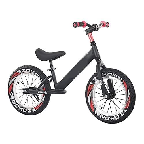 JKYP Fahrrad für Kinder, 40,6 cm (16 Zoll), Luftreifen, Laufrad für große Kinder, Jungen, Teenager, Pedallesser, leichter Aluminium-Rahmen, Fahrradhöhe 118–150 cm, für 60 kg Unterstützung (Farbe: B)