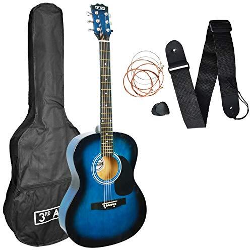 3rd Avenue STX10ABBPK - Paquete de guitarra acústica, Azul (Blueburst),...