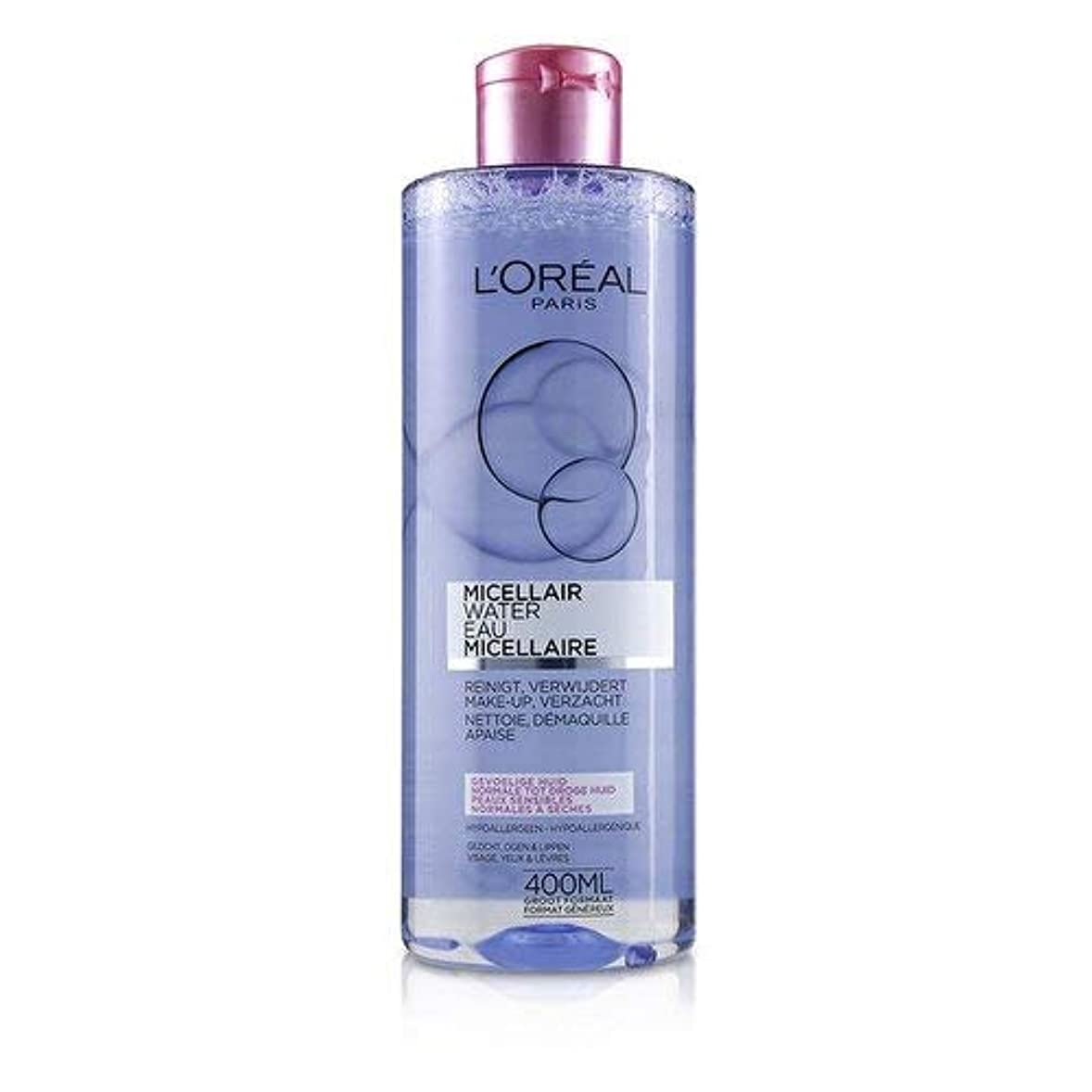 原理トン公使館ロレアル Micellar Water - Normal to Dry Skin & Even Sensitive Skin 400ml/13.3oz並行輸入品