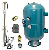 Hochwertiges 150 L Hauswasserwerk Hauswasserautomat Tiefbrunnenpumpe 7,3b 4200l/h Sand bis 5%