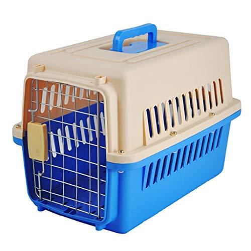 Jlxl transportbox voor honden, dragers van dieren, kattentdraagtas, draagbaar, reizen, autotransporter, container, metalen deur vergrendeling, toilet filterraster handvat
