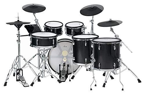 XDrum DD-670 PLUS Mesh E-Drum Kit - elektronisches Schlagzeug mit echter HiHat und Holzkesseln - 14