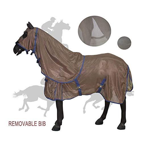 WOFEI Horse Fly Rug Net Mesh, Cover Schutz Anti-Moskito Rückenbereich wasserdicht und atmungsaktiv Komfortabel Horseware,60