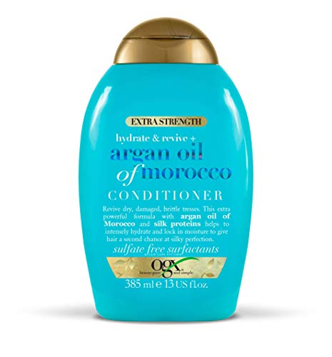 OGX Argan Oil of Morocco Conditioner for Dry Damaged Hair, Extra Strength, 385 ml