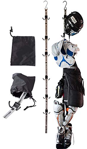 UTTY Multipurpose Portable Drying Rack – Hang Sports Equipment, Camping Organizer, Hanging Storage - Dry Wet Clothes, Gear Bags, and Hockey Equipment – Hanger for The Home, Garage, Tent, RV, or Hotel